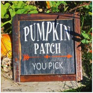 Fall Rustic Wooden Pumpkin Patch Sign Tutorial