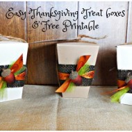 Easy Thanksgiving Treat boxes & Free Printable