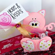 Hogs and Kisses Valentine box & Free printable tag