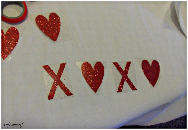 xoxo banner iron on vinyl