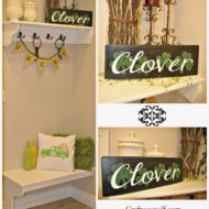 St. Patrick's Day Wood and Vinyl Clover Sign