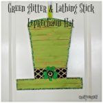 Green glitter Lathing Stick Leprechaun Hat