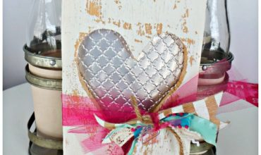 heart cut out with tin