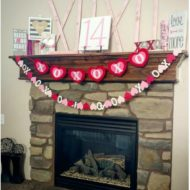 Large Valentine X's and O's made out of lathing strips