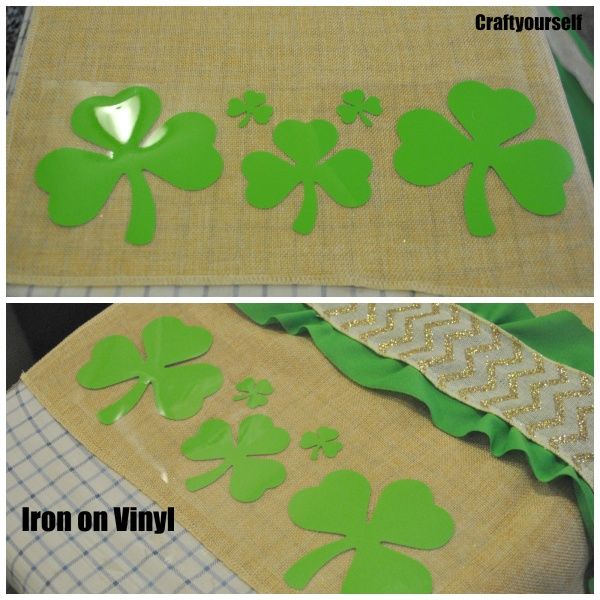 Iron on Shamrocks