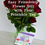 Easy Friendship Flower Gift with Free Printable Tag