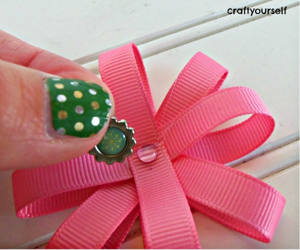 hair bow card jewel