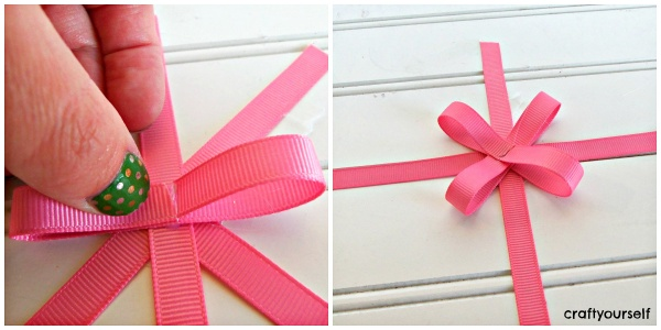 hair bow card loops