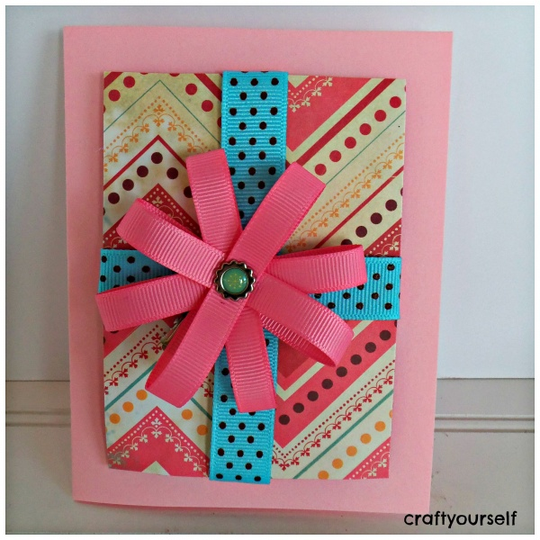 hair bow card