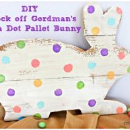 Knock off Gordman's Polka Dot Pallet Bunny