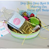 Drip Drip Drop April Showers Watering Can Easter Gift Basket
