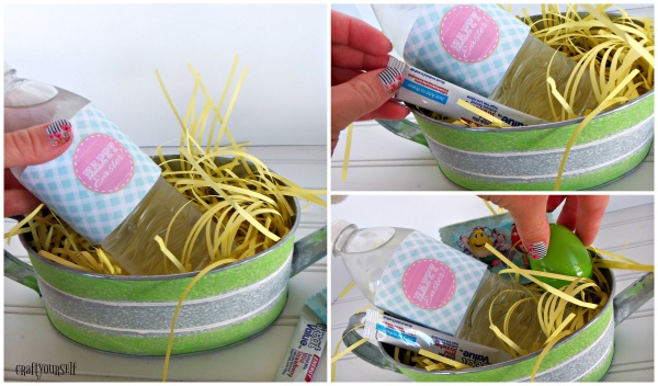 watering can Easter Basket fill with goodies