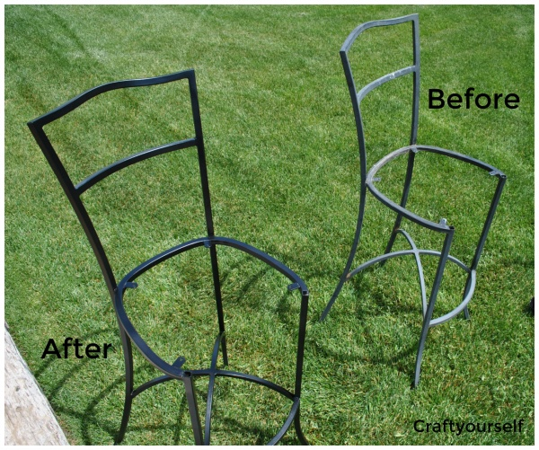 Chairs before and after