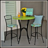 DIY Refurbish a used outdoor Iron Bistro table and chairs