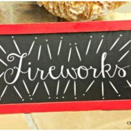 Hobby Lobby knock off Fireworks sign
