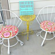 DIY – Refurbished Vintage metal patio chairs