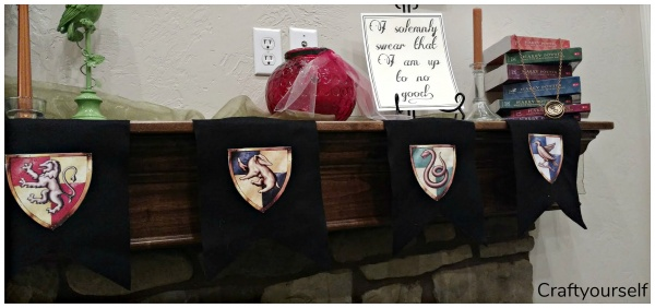 Harry Potter house pennants