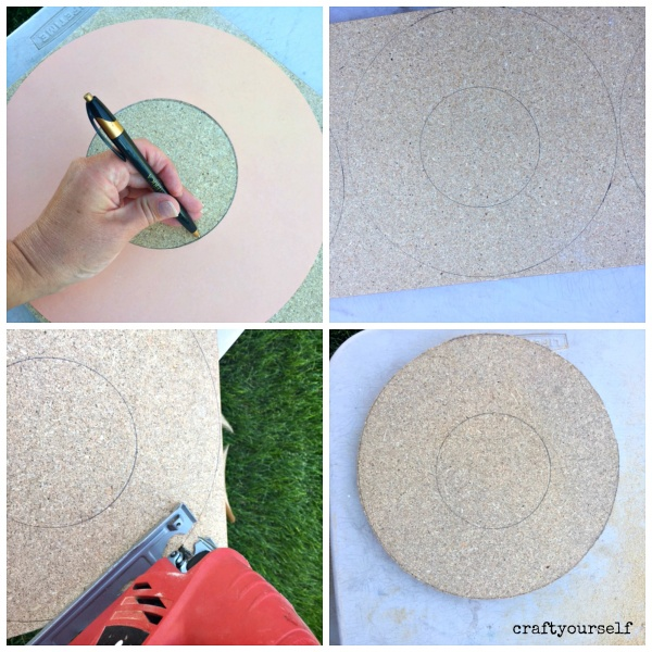 circle wreath trace cut