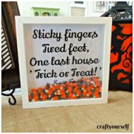 Halloween Candy Corn Shadow box Decor