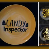 Halloween custom made washable décor plates