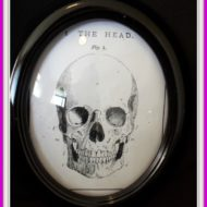 Round Framed Skeleton For Halloween Home Décor