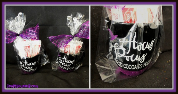 Hocus Pocus mugs filled will hot cocoa