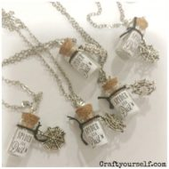 Spider Silk Dust Mini Glass Halloween Necklace