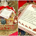 Christmas bucket list gift basket