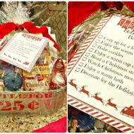 Christmas Bucket List Basket Gift idea