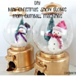 Mini christmas snow globes from gum ball machines