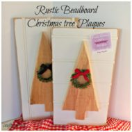 Rustic Bead board Christmas tree Plaques
