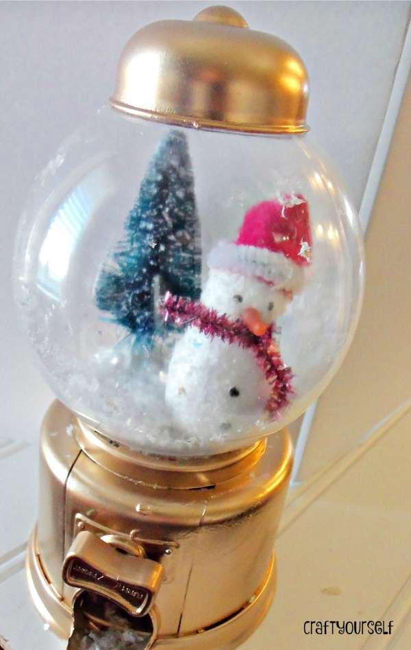 snow globe gum ball machine