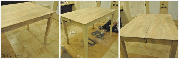 Dining room table sanding