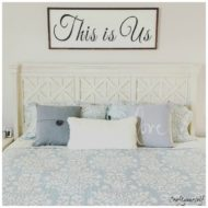 """This is Us"" Large 4 ft. wall home décor sign"