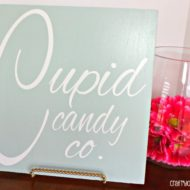 Easy Valentines Cupid Candy Co. Sign