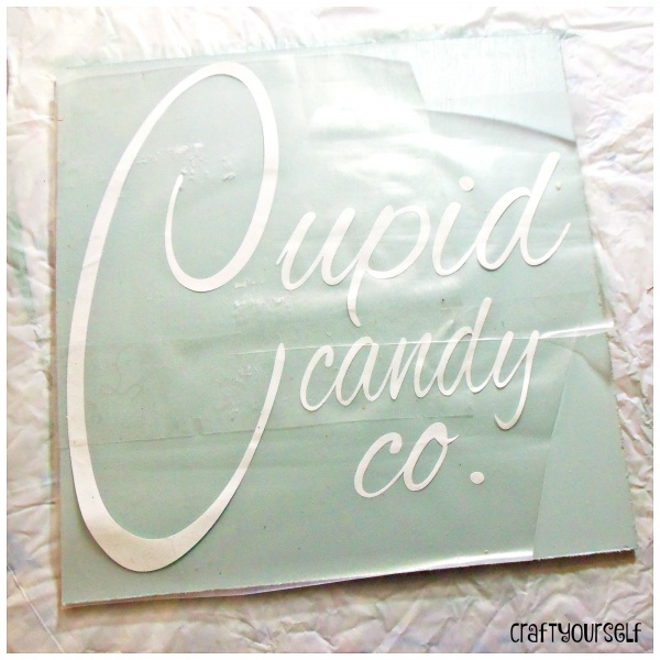 cupid sign apply vinyl