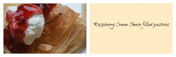 Air Fried Raspberry pastry