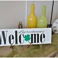 Leprechaun's Welcome St. Patrick's Day Sign