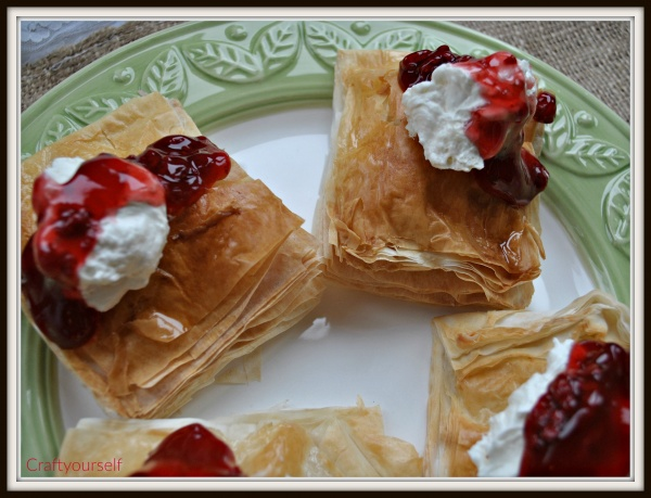 Raspberry cream cheese filled pastry