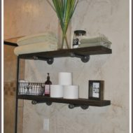 Handmade Shelving DIY using Industrial Piping