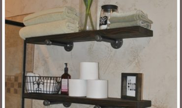 2 industrial piping shelves