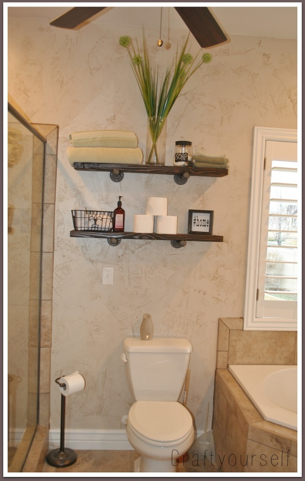 Shelves in Bathroom