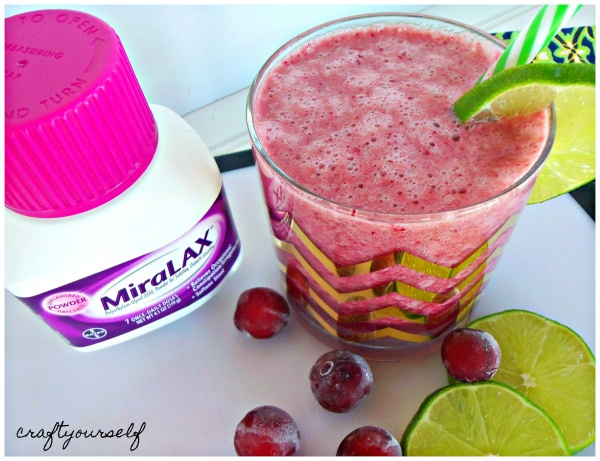 Lime Ricky Smoothie with MiraLAX