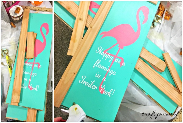 flamingo adding frame and vinyl