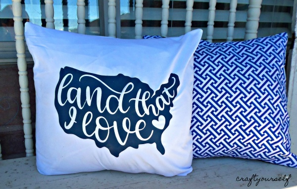 land that I love pillows