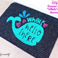 "DIY Summer Fun ""Whale""come doormat"