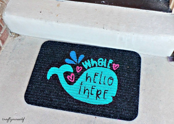 whale hello there doormat