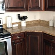 DIY Kitchen Bead Board Back Splash