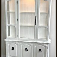 Refinished white hutch