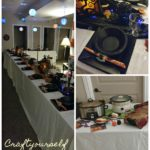 halloween party table and place setting